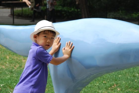 Charles Long installation at madison sq park