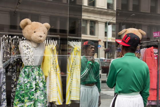 man, bear and mirror on 23rd