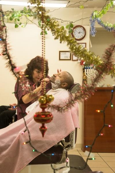 Christmas Shave 57th Street, Manhattan