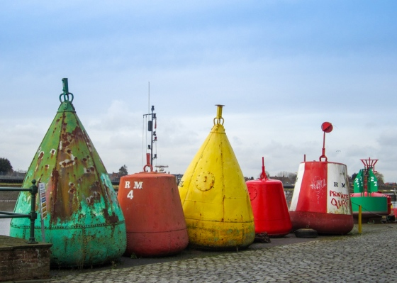 Buoys, Purfleet Dock, King's Lynn Keith Osborn