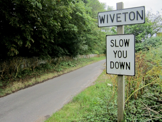 Norfolk Dialect Road Sign Wiveton Keith Osborn