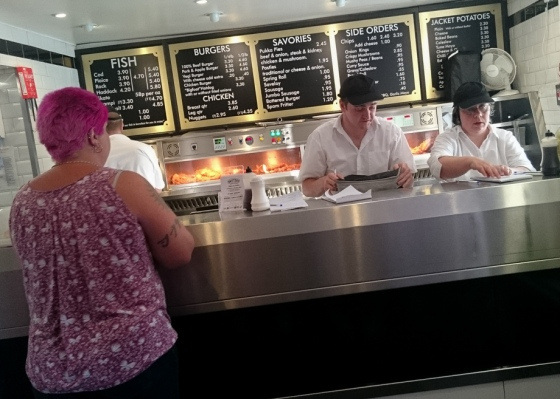 Waiting for Fish & Chips, Fakenham Keith Osborn
