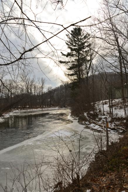 Battenkill River in Shushan